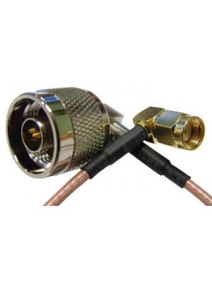 Пигтейл N male/RPSMA female, RG316, 250mm