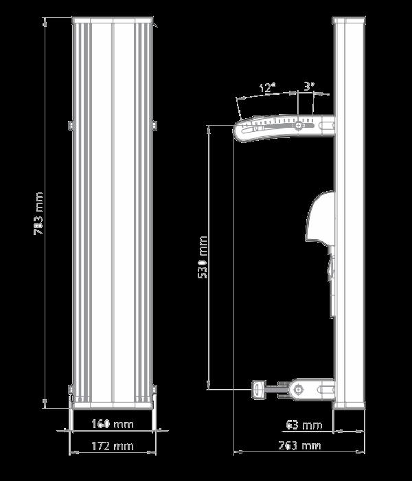 RF elements Sector Carrier Class 2-14 2x2 H+V