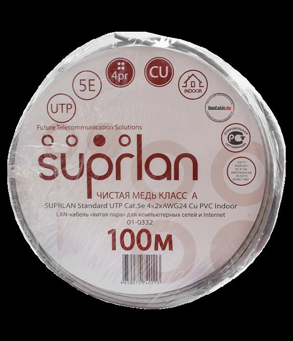 SUPRLAN Premium UTP Cat.5e 4x2x0,51 Cu PVC Indoor 100m