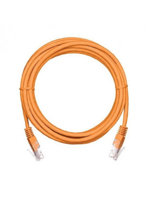 Bion Патч корд UTP кат.5е 0.25м оранжевый CCA, BNPP12-0.25M/O