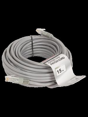 Патчкорд литой  Telecom NA102--15M UTP CAT5E серый 15M