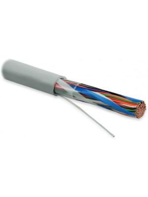 Hyperline UUTP50-C3-S24-IN-LSZH-GY (UTP50-C3-SOLID-INDOOR-LSZH) Кабель витая пара, неэкранированная U/UTP, категория 3, 50 пар (24 AWG), одножильный (solid), LSZH нг(А)-HF, -20°C до +60°C, серый
