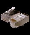 Коннектор PREMIUM Plug STP 8p8c-RJ45 cat.5e-drat - Коннекторы, соединители