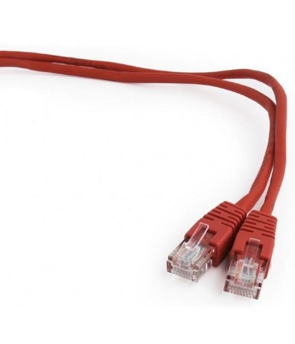Bion Патч корд UTP кат.5е 5м красный CCA , BNPP12-5M/R - Патчкорд медный