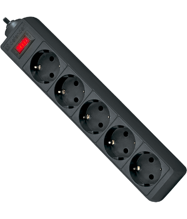 DEFENDER Сетевой фильтр 1.8M ES1.8 5OUTL. BK (99484) - Сетевой фильтр