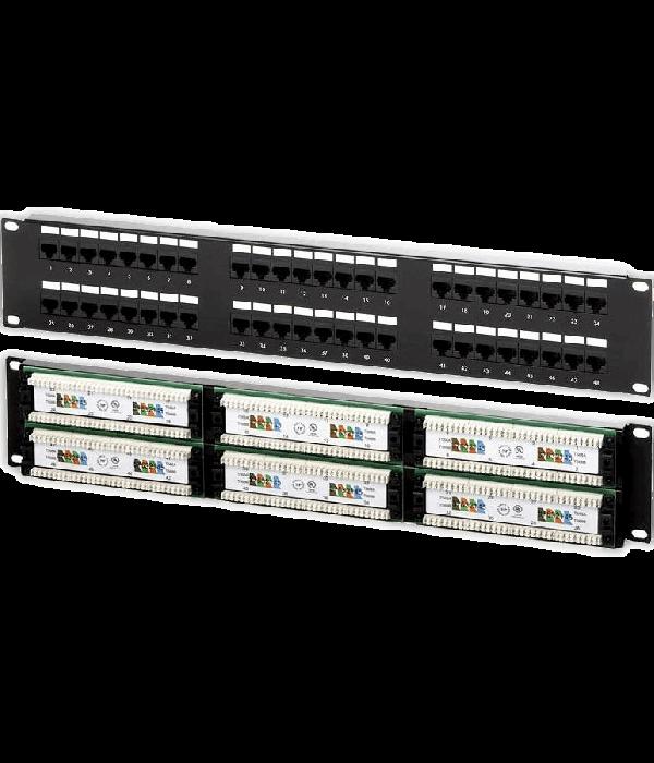 """Neomax Коммутационная панель UTP, 48 портов RJ-45, cat. 6 19"""" ( 6PLB-48D10) - Патч-панель"""