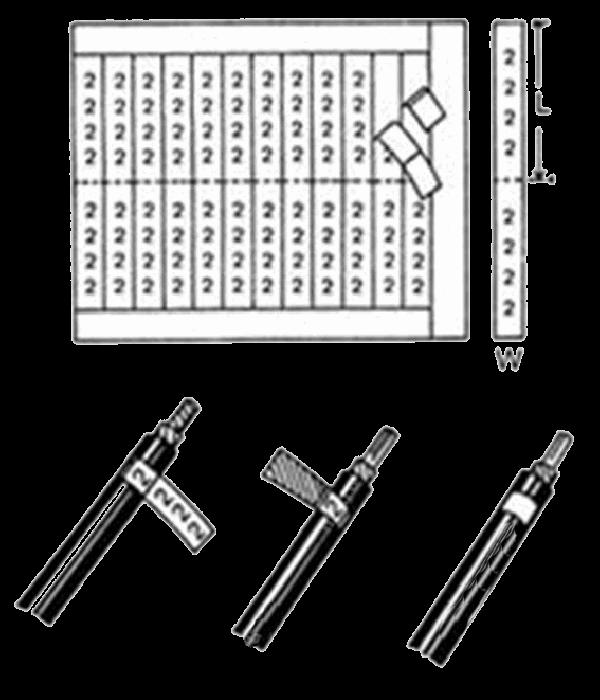 Самоклеющ. маркеры, '0-9', переплет 10 листов, (WMB-1/4) - Расходники СКС