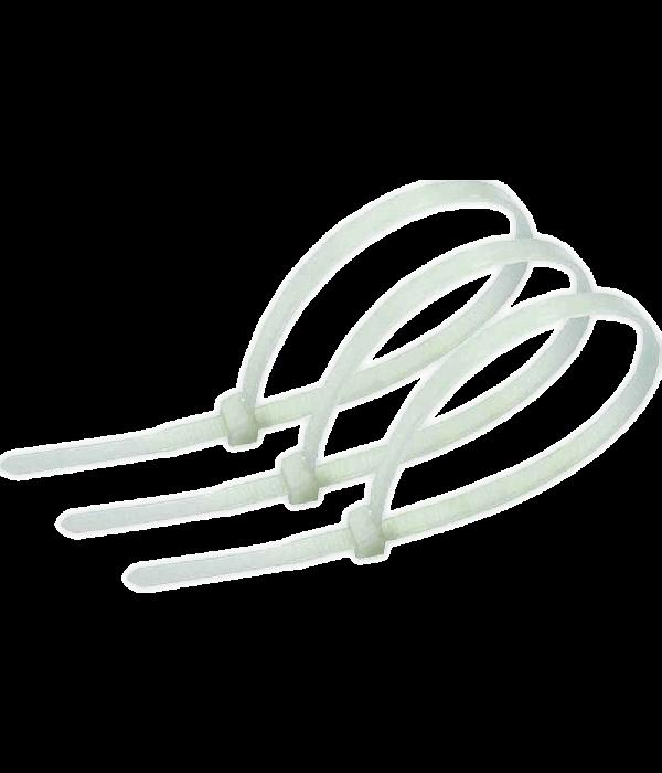 Стяжка CV-150 150х2.5 белая (упак. 100 шт.) ( NYT-150X2.5) - Расходники СКС
