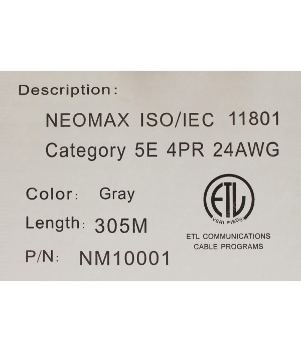 NEOMAX [NM10001] Кабель UTP cat.5e 4 пары (305 м) 0.51мм Taiwan Медь