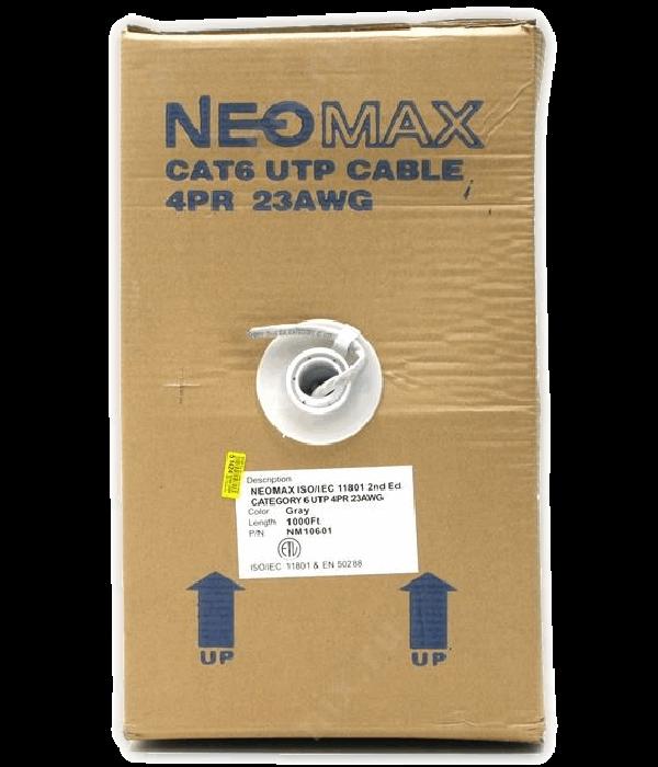 NEOMAX [NM10601] Кабель UTP cat.6 4 пары  (305 м) 0.57мм Taiwan   Медь - LAN Кабель