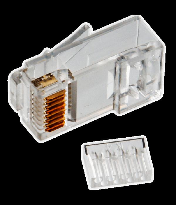 Neomax Коннектор UTP RJ45 под однож. кабель (с вставкой), Кат.5 (100шт.) [P88RB03V2I] - Коннекторы, соединители