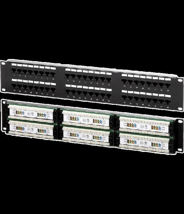 Neomax Коммутационная панель 48 портов RJ45 UTP, Кат. 5e - Патч-панель