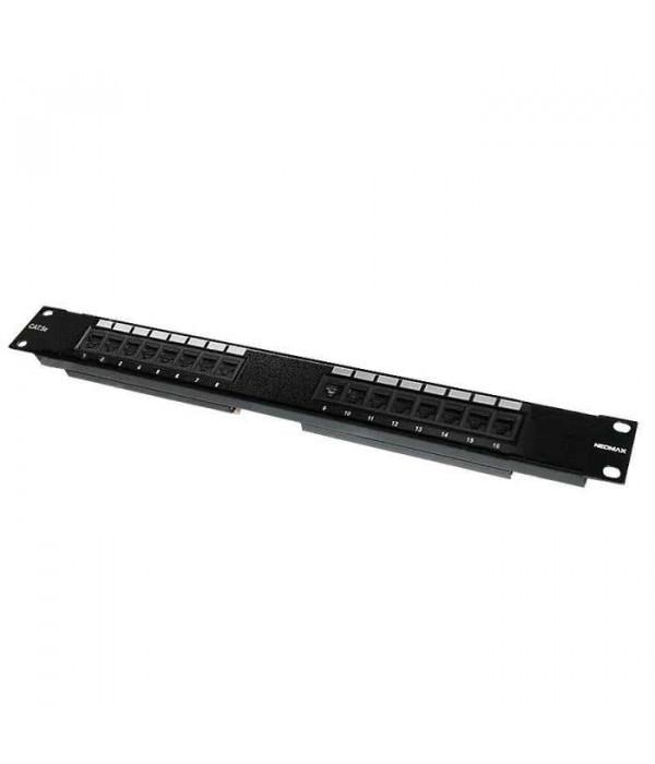 """Neomax Коммутационная панель UTP, 24 порта   RJ-45 cat. 6  19""""  ( 6PLB-24XX ) - Патч-панель"""