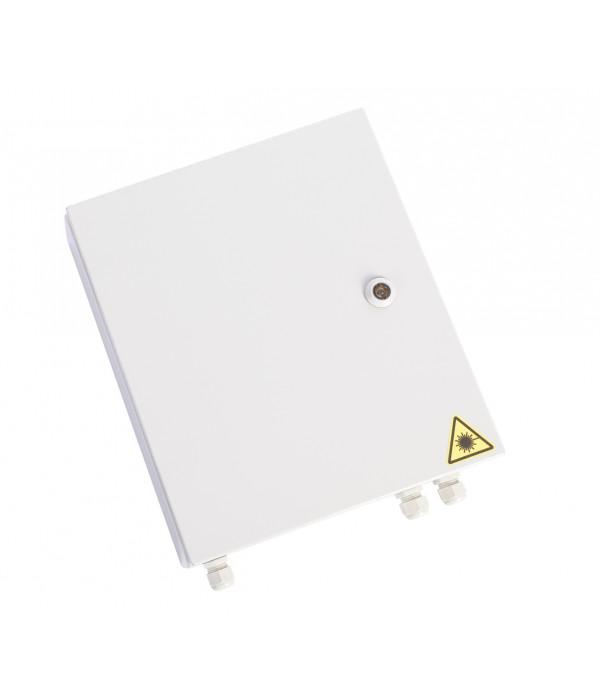 ЦМО! Оптический бокс (кросс) IP 55 настенный, одна дверь, замок, до 16 портов (БОН-Н-16.55) - Оптический кросс (бокс)
