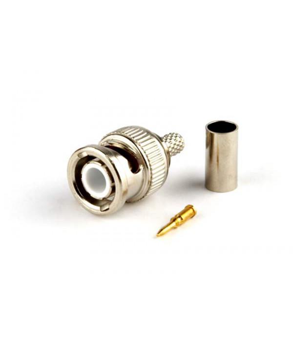 Hyperline CON-BNC-M-RG58-CR Разъем BNC для кабеля RG-58, обжимной -
