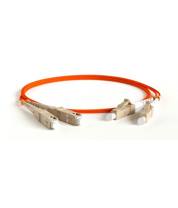Hyperline FC-D2-50-LC/PR-SC/PR-H-1M-LSZH-OR - Патчкорд оптический