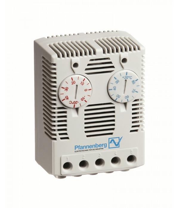 ЦМО FLZ 541 Сдвоенный терморегулятор (термостат) Н.З. и Н.О. (нагреватель и вентилятор), 0...+60 °C, 230 В (FLZ 541) - Аксессуар для коммуникационных шкафов