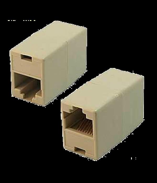 VCOM VTE7713-1/10 Модуль RJ-45 - RJ-45 проходной, кат. 5e (10 шт. в уп-ке), блистер - Коннекторы, соединители