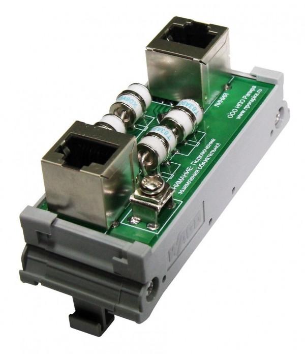 Грозозащита портов ethernet 10/100мбит. монтаж на DIN рейку SOSNA-1000-DIN - Грозозащита