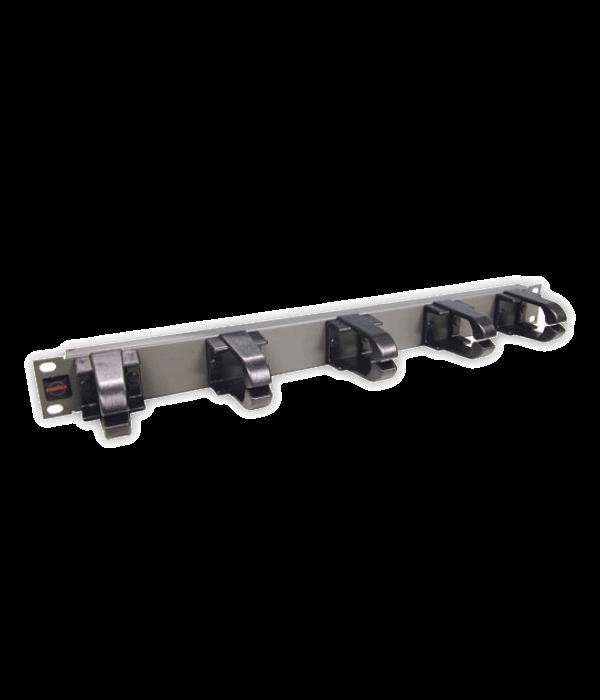 """Кабельный органайзер 19"""",  пластик 5 колец PLMN-070 (N) - Монтажное оборудование, Кабельный организатор"""
