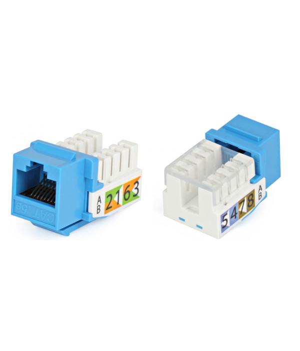 Hyperline KJ2-8P8C-C5e-90-BL Вставка Keystone Jack RJ-45(8P8C), категория 5e, Dual IDC, синяя -