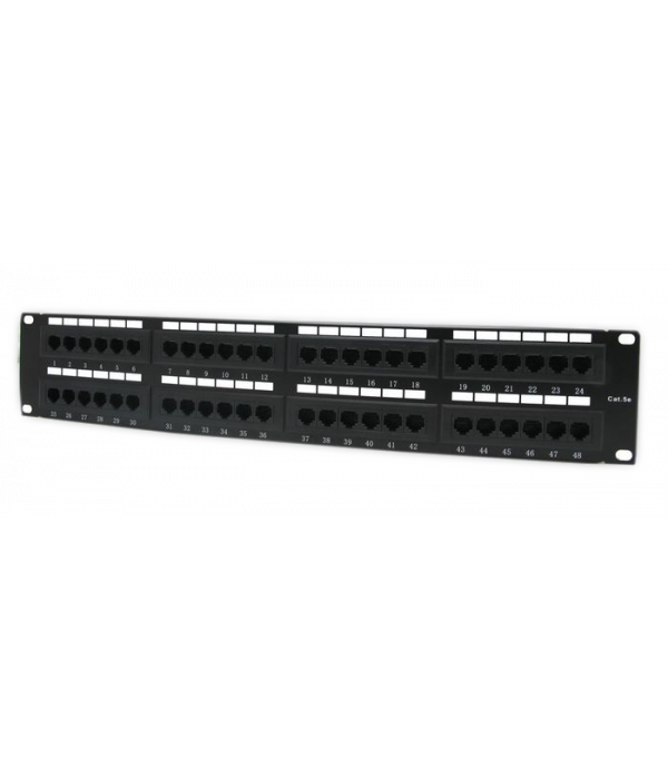 """Neomax Коммутационная панель UTP, 48 портов RJ-45 cat. 5e 19"""" ( EPLH480X )"""