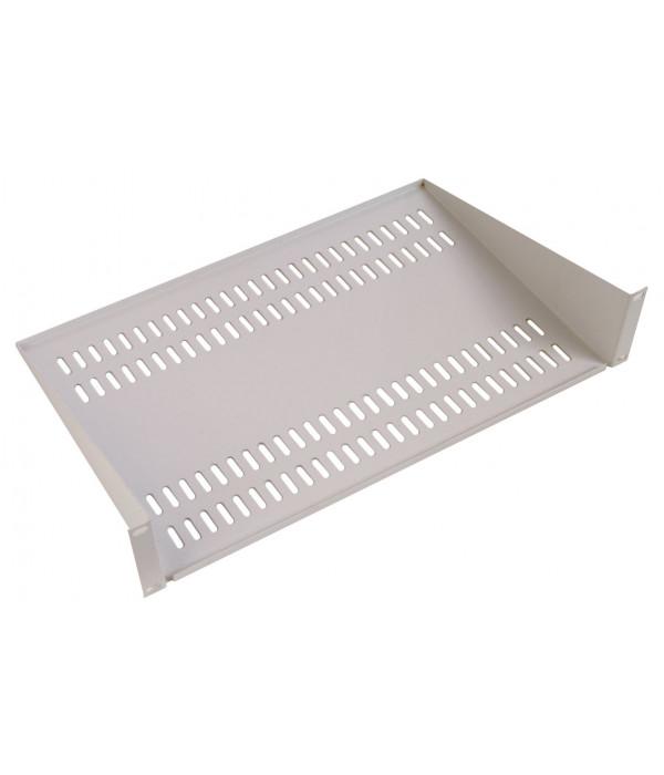 ЦМО Полка перфорированная консольная 2U, глубина 200 мм,цвет черный (МС-20-9005) - Аксессуар для коммуникационных шкафов