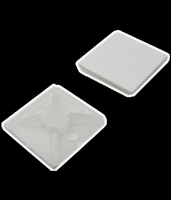 Самокл. площадка для крепления стяжек 19x19, 100шт. (HC-101/ПК-20)
