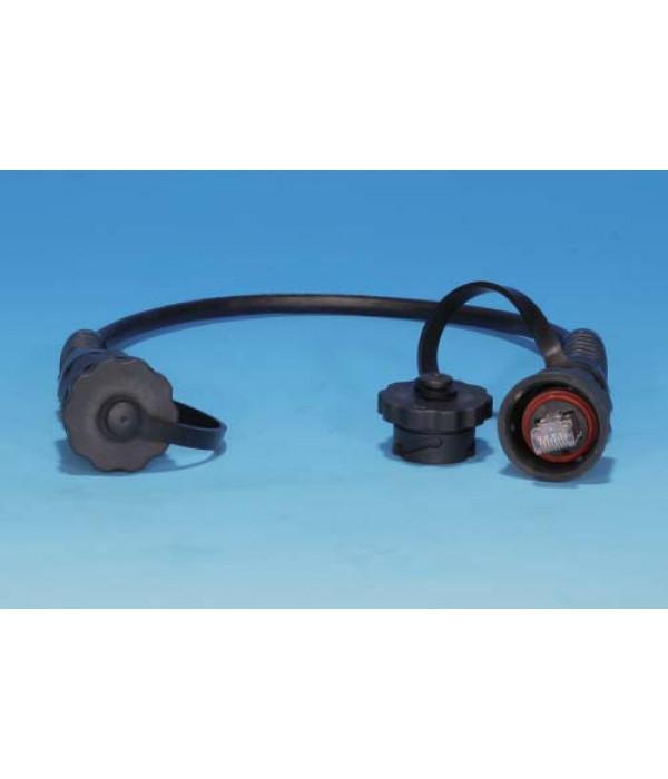 Hyperline PC-IE-LPM-STP-RJ45-RJ45-C6-3M-BK Промышленный патч-корд F/UTP, экранированный, IP67, категория 6, с защитными крышками, 3 м, черный - Патчкорд медный