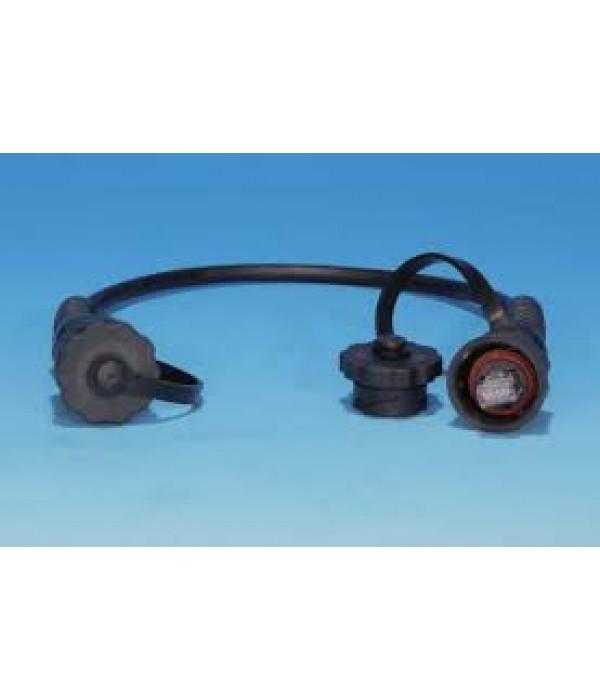 Hyperline PC-IE-LPM-UTP-RJ45-RJ45-C6-10M-BK Промышленный патч-корд U/UTP, IP67, Cat.6, с защитными крышками, 10 м, черный - Патчкорд медный