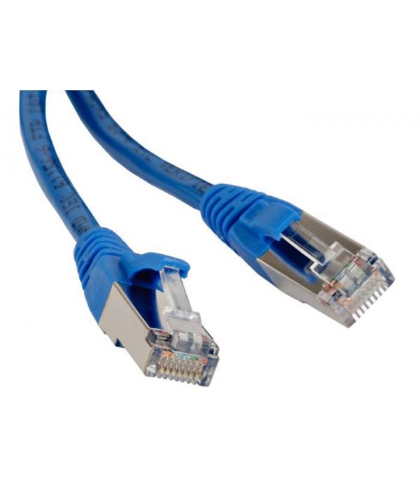 Hyperline PC-LPM-STP-RJ45-RJ45-C6-5M-LSZH-BL Патч-корд F/UTP, экранированный, Cat.6, LSZH, 5 м, синий - Патчкорд медный