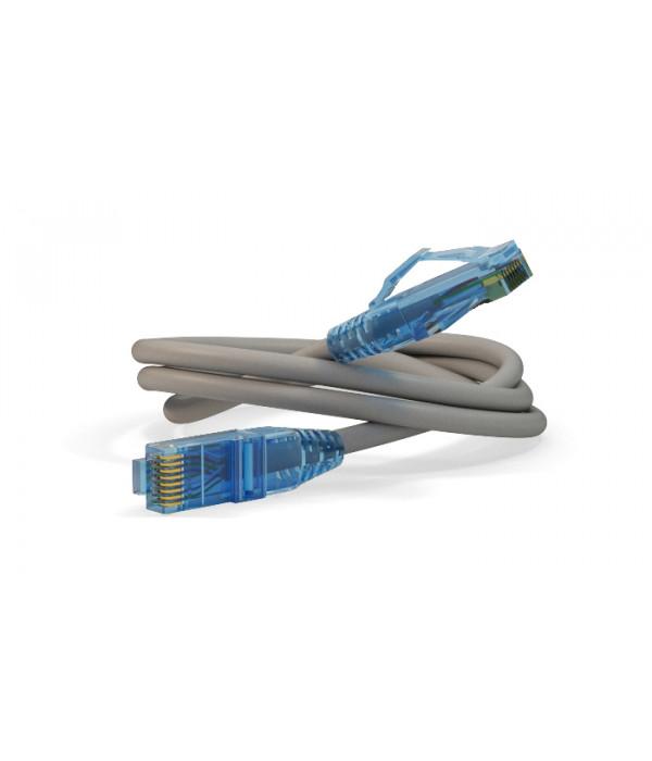 Hyperline PC-LPM-UTP-RJ45-RJ45-C6-3M-LSZH-GY - Патчкорд медный