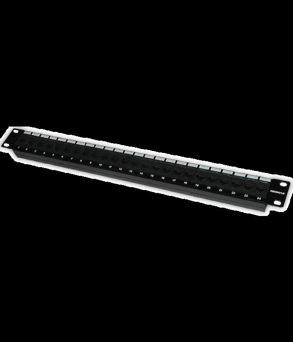 """Neomax Патч панель для кабеля STP, 24 порта RJ-45, cat. 5e 19"""" ( PLV-F24-11 ) - Патч-панель"""