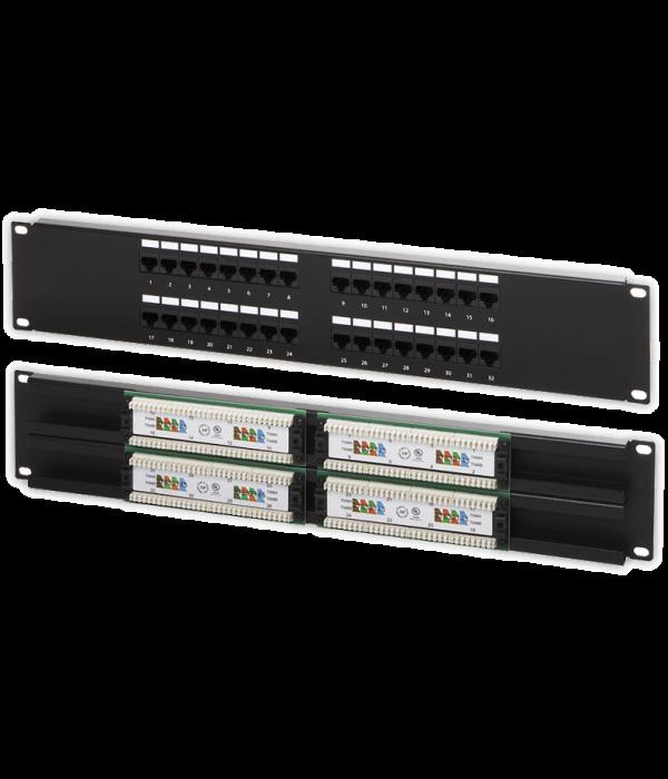 """Neomax Коммутационная панель UTP, 32 порта RJ-45, cat.5e 19"""" ( PLU-32XX-1 ) - Патч-панель"""