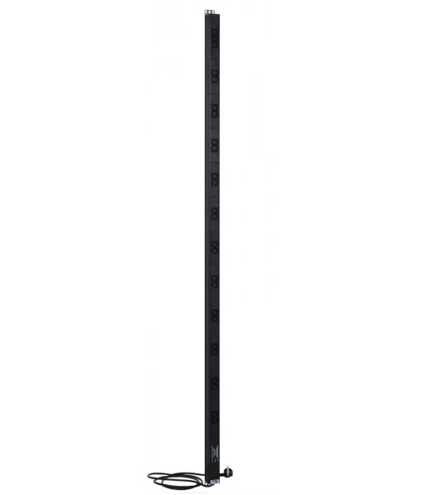 """ЦМО Вертикальный блок розеток Rem-16 с фил. и инд., 25 IEC 60320 C13, алюм., 42-48U, шнур 3 м. (R-16-25C13-FI-1820-3) - Блок розеток 220в силовых 19"""""""