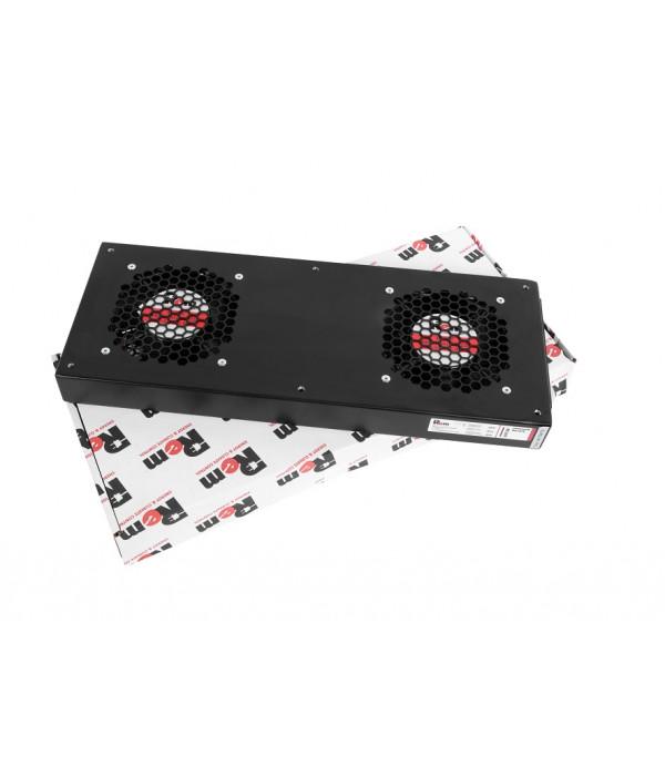 ЦМО Модуль вентиляторный, 2 вентилятора, колодка, чёрный R-FAN-2J-9005 - Аксессуар для коммуникационных шкафов