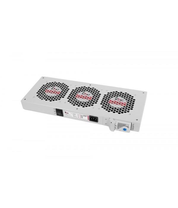 ЦМО Модуль вентиляторный, 3 вентилятора с терморегулятором R-FAN-3T - Аксессуар для коммуникационных шкафов