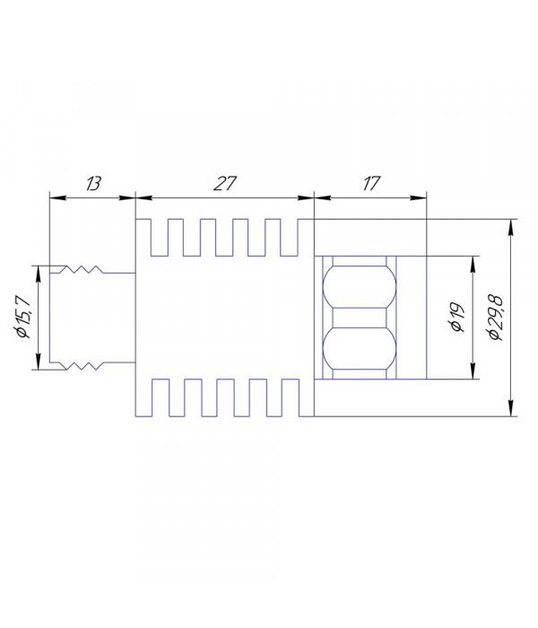 Аттенюатор 30 дБ N-50-30-10 (0-3 ГГц) - Аттенюаторы и нагрузки