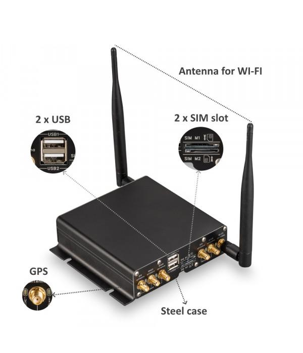 Роутер Kroks Rt-Cse DM mQ-E/EC GNSS 2U с двумя модемами и GNSS приемником - Маршрутизатор с 3G/4G
