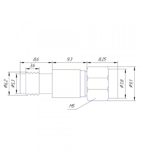 Аттенюатор 10 дБ SMA-50-10-2 - Аттенюаторы и нагрузки