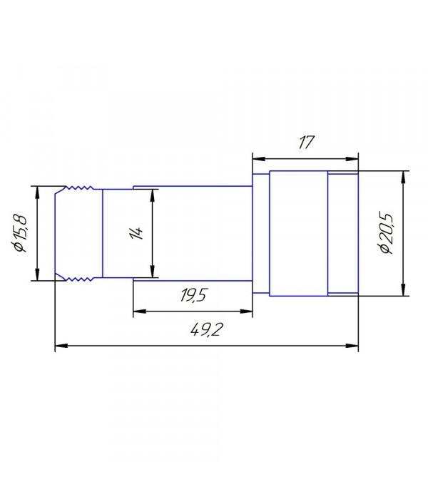 Аттенюатор 10 дБ N-50-10-2 (0-6 ГГц) - Аттенюаторы и нагрузки