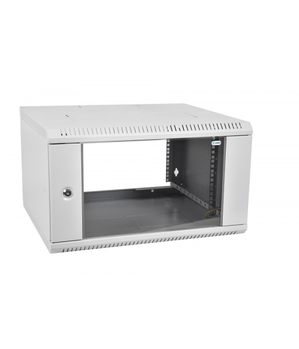 ЦМО! Шкаф телеком. настенный разборный 12U (600х350) дверь стекло,цвет черный (ШРН-Э-12.350-9005) (1 коробка) - Телекоммуникационные шкафы, ящики