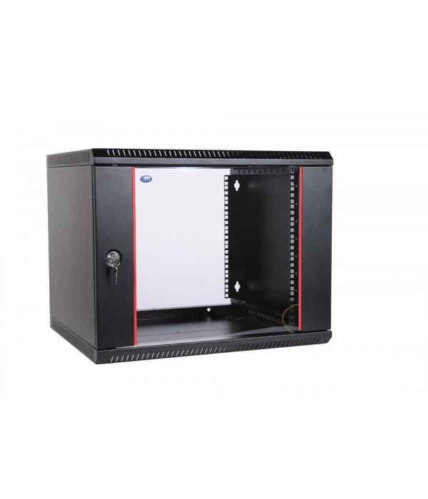 ЦМО! Шкаф телеком. настенный разборный 15U (600х520) дверь стекло,цвет черный (ШРН-Э-15.500-9005) (1 коробка) - Телекоммуникационные шкафы, ящики