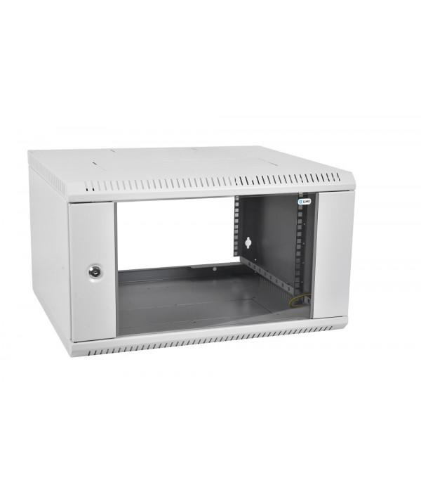 ЦМО! Шкаф телеком. настенный разборный 6U (600х350) дверь стекло,цвет черный (ШРН-Э-6.350-9005) (1 коробка) - Телекоммуникационные шкафы, ящики