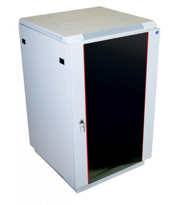 ЦМО! Шкаф телеком. напольный 27U (600x1000) дверь стекло (ШТК-М-27.6.10-1ААА) (3коробки) - Телекоммуникационные шкафы, ящики