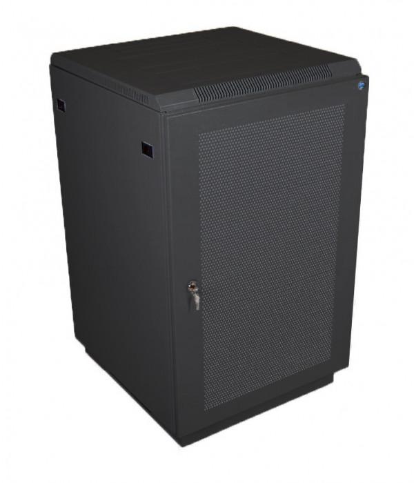 ЦМО! Шкаф телеком. напольный 27U (600x1000) дверь перфорированная 2 шт., цвет чёрный (ШТК-М-27.6.10-44АА-9005) - Телекоммуникационные шкафы, ящики