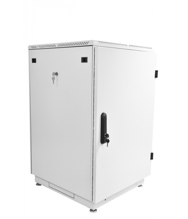 ЦМО! Шкаф телеком. напольный 27U (600x600) дверь металл (ШТК-М-27.6.6-3ААА) (2 коробки) - Телекоммуникационные шкафы, ящики