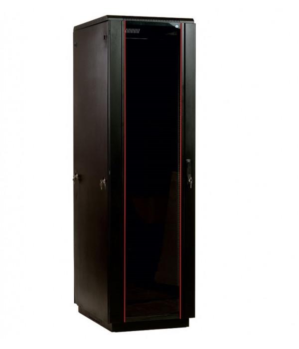 ЦМО! Шкаф телеком. напольный 42U (600x800) дверь стекло, цвет чёрный  (ШТК-М-42.6.8-1ААА-9005) (3 коробки) - Телекоммуникационные шкафы, ящики