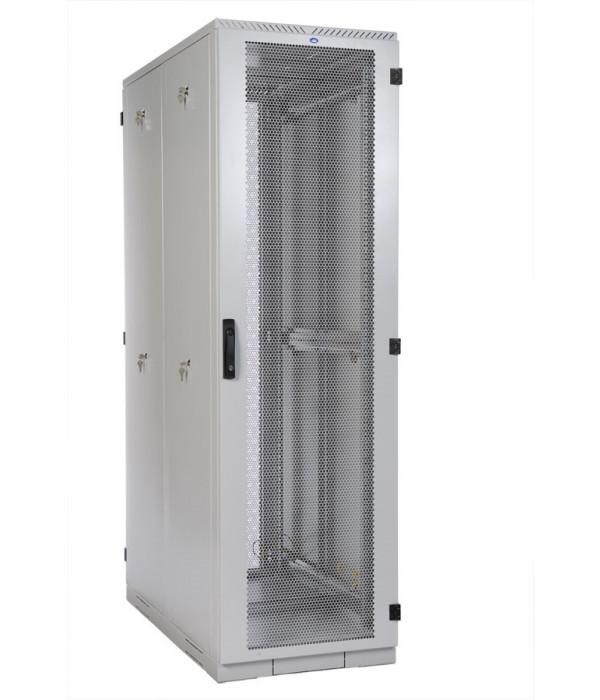 ЦМО! Шкаф серверный напольный 42U (600x1000) дверь перфорированная, задние двойные перфорированные (ШТК-С-42.6.10-48АА) (4 коробки) - Телекоммуникационные шкафы, ящики