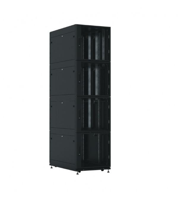 ЦМО! Шкаф серверный ПРОФ напольный колокейшн 44U (600x1000) 4 секции, дверь перфор. 2 шт., черный,в сборе (ШТК-СП-К-4-44.6.10-44АА-Ч) - Телекоммуникационные шкафы, ящики